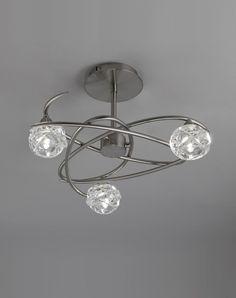 Semi plafón níquel 3 luces MAREMAGNUM - La Casa de la Lámpara