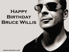 A Great Hollywood Actor #BruceWillis Celebrates His #Birthday Today ! Happy Birthday Bruce Willis.  Wish Bruce Willis at Cinigururu. 1 pin = 1 wish .  1 Share = 100 wish.