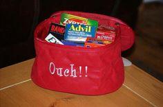 Initials Inc Train Case for an ouchies bag!  Neat idea! | Initials, inc.
