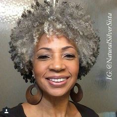 Natural african american gray hair