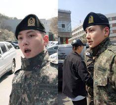 Dàn mỹ nam xứ Hàn khi vào quân ngũ: Người đẹp xuất sắc như đóng phim, kẻ xập xệ đến mức khó nhận ra - Ảnh 3. Ji Chang Wook, Got7, Kdrama, Captain Hat, Idol, Handsome, Korean, My Favorite Things, Pretty
