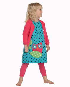 Frugi Reversible Owl Pinafore Dress - Persnickety, Riley Roos, Smocked Clothing for kids