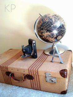 Maleta de viaje antigua para decorar ** Vintage suitcase for decor