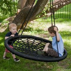 Swing and Spin Swing - so much cooler than a tire swing (and it wont collect water)