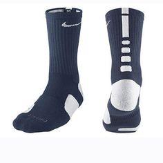 Calcetines Nike Elite 2.0 Dri-fit azul oscuro/blanco www.basketspirit.com/Calcetines-Baloncesto