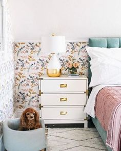 Spring Bedroom Refresh - at home with Ashley Bedroom Art Above Bed, Bedroom Wall, Master Bedroom, Bedroom Color Schemes, Bedroom Colors, Bedroom Ideas, Trendy Bedroom, Modern Bedroom, Eclectic Bedrooms