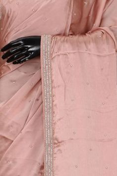 Peach Bead Embroidered Satin Saree-KL3413 Satin Saree, Traditional Looks, Green Stone, Sarees Online, Party Wear, Wedding Styles, Mini Skirts, Peach, Bright