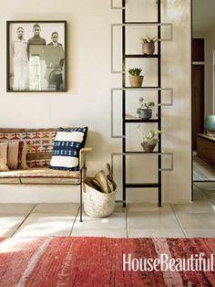 Ladder as a plant stand. Design: Pamela Shamshiri/Commune Design. housebeautiful.com #plants