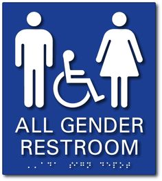 All Gender Wheelchair Accessible Restroom Signs