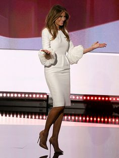 Melania Trump Takes Stage in a $2,190 Dress at the Republican National  Convention (and It Sold Out in Less Than an Hour)
