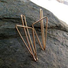 gold filled 14k earrings long 14kt by cecilestewartjewelry on etsy
