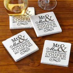 Happy Couple Tile Coasters