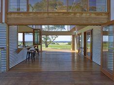Located in South Australia, Waitpinga House is a family retreat designed by Mountford Williamson Architecture. Australian Architecture, Australian Homes, Clad Home, Shed Homes, Breezeway, Coastal Homes, Coastal Living, Home Renovation, House Plans