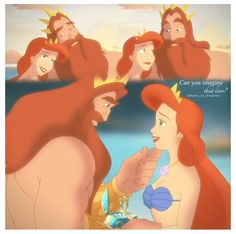 King Triton and Queen Athena