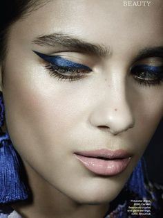 Claudia Gould by Jason Hetherington @ ELLE UK December 2015 #editorial #beauty #blues