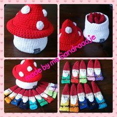 Finger Puppets, Elves, Needlework, Crochet Hats, Haken Baby, How To Make, Handmade, Diy, Pixies