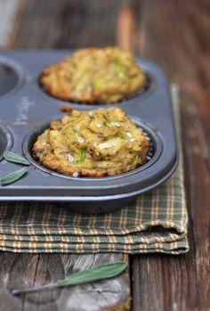 Savory zucchini sage muffins (gluten, grain & dairy free) a new leaf mu Lunch Box Recipes, Thm Recipes, Healthy Recipes, Lunchbox Ideas, Starch Recipes, Free Recipes, Savory Muffins, Zucchini Muffins, Mini Muffins