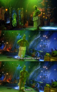 How the grinch stole christmas. Love this scene! I laugh every time he goes back and tosses the table over.