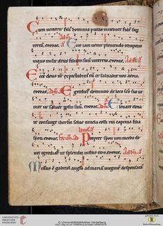 Antiphonarium Cisterciense Salem, um 1200 Cod. Sal. X,6b  Folio 7v