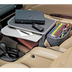 If you primarily do business out of your car, this may be a useful gadget to store your supplies in the passenger seat.