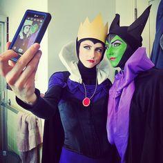 #Ravenna and #Maleficent  #cosplay #costumes  #evilqueen #queen #disney #halloween #SELFIE