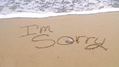 sea side scene with a text I'm sorry written on the sea beach. Sorry Images, Friends Image, Custom Wallpaper, Sea Side, Messages, Scene, Beach, Art, Art Background