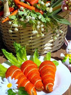 Carrot Crescents filled with Egg Salad.  oh my too cute! #Easter #Recipe