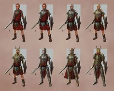 Celtic Warrior Concept Variants - Celtic Heroes by DaveAllsop