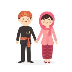 Betawi Jakarta Indonesia Couple Cute Abang None Traditional Clothes Costume Retro Wallpaper, Disney Wallpaper, Cartoon Costumes, Indonesian Art, Silhouette Photography, Couple Illustration, Couple Cartoon, Jakarta, Traditional Outfits