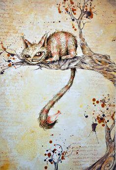 Alice in Wonderland. Alicia Wonderland, Adventures In Wonderland, Tim Burton Style, Chesire Cat, Alice Madness Returns, Cat Paws, Through The Looking Glass, Were All Mad Here, Game Art