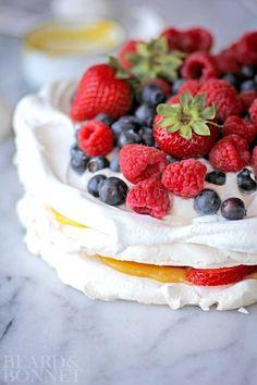 Mixed Berry Pavlova (Gluten Free)