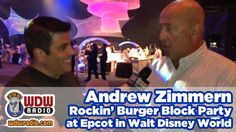 Lou and Andrew Zimmern Talk Burgers at the Epcot Rockin' Burger Block Party Walt Disney World