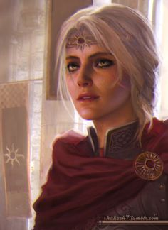 shalizeh7:  Sketchy queen Cirilla :) I never made her a queen myself - she became a witcher in my playthrough of the Wild Hunt. But the idea is fascinating.