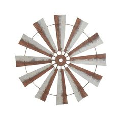 Crafted with vintage inspiration, the DecMode Farmhouse Round Metal Windmill 39 in. Wall Clock brings farmhouse flair to your wall. The iron construction. Metal Wall Decor, Metal Wall Art, Country Farmhouse Decor, Farmhouse Style, Iron Wall, Wall Sculptures, Brown And Grey, Gray, Rustic