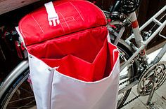 DIY bike panniers (melissadettloff) Tags: bike diy handmade sewing panniers bikepanniers