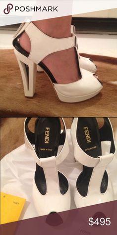 Fendi Vintage Heels Fendi Heels! Vintage yet modern style. Purchased in Hong Kong at Fendi. 100% authentic. Comes in original Fendi dustbag. Worn once! Fendi Shoes Heels