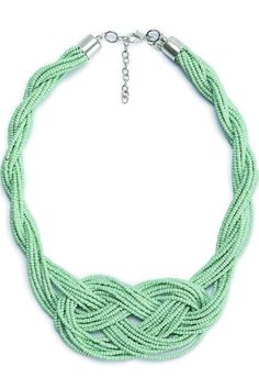 Plaited beaded necklace. Lobster clasp. Open length: 45 cm with 8 cm extension chain. This gorgeous necklace is the perfect statement piece to add colour to your spring wardrobe!  Finnan Necklace by Selected Femme. Accessories - Jewelry - Necklaces Bromley South London London