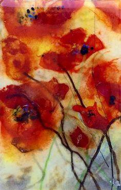 "Daily Paintworks - ""Poppy Memories"" - Original Fine Art for Sale - © Kristen Dukat"