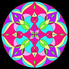"""Mandala 004  There is a blank coloring page of this on my other board """"Mandala Coloring Pages."""""""