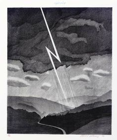 Weather Series - Lightning, David Hockney