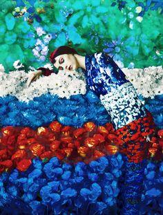 Red & Blue  Mary Katrantzou Spring - Summer 2012 Fashion Ad Campaign