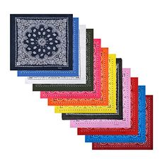 http://picxania.com/wp-content/uploads/2017/10/12-pack-cotton-bandanas-with-different-colors-for-daily-life.jpg - http://picxania.com/12-pack-cotton-bandanas-with-different-colors-for-daily-life/ - 12 Pack Cotton Bandanas with Different Colors for Daily Life -   Price:    Alotpower Cotton Cowboy Bandanas Headbands, Haircovering, Square Handkerchiefs Material:100% CottonSize:approx 22×22 inchesColor:As picture shows. These bandanas are bright color with multifunctional us