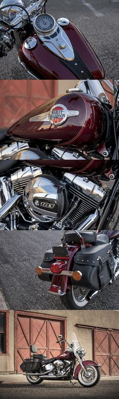 Comfort as modern as this morning's news and the power from our High Output Twin Cam 103B engine, but the look still blazes straight from this machine's authentic dresser past. | 2017 Harley-Davidson Heritage Softail Classic