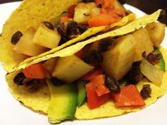 Potato & Black Bean tacos (from Coach @Heather Calcote 's kitchen)