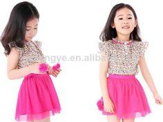 little girls' skirt and shirt
