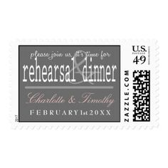 Love & Marriage Modern Wedding Rehearsal Dinner Postage