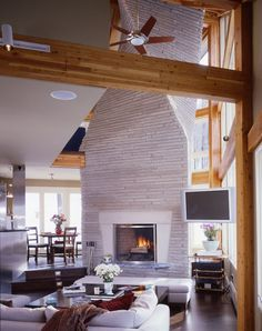 Modern timber frame ski home in Vermont.