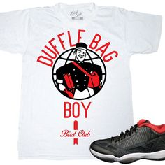 31350beb87f7 Air Jordan 11 low sneaker tee by Bird Club Clothing