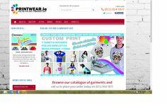 ie, one stop print & embroidery shop, designed and built by www.ie website designers Sligo. Embroidery Shop, Custom Printed Shirts, Signature Look, Printing Services, Web Design, Designers, Mugs, Website, Blog