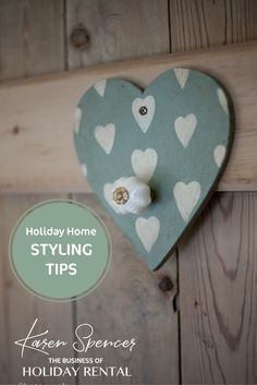 **STYLING TIPS**  Who said hooks have to just be practical.  Make them stylish too!  It's details like this than many owners overlook. Its details like this that take your holiday home from average to gorgeous!  Karen